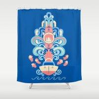 Ponyo Deco Shower Curtain