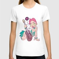 Rock Girl Womens Fitted Tee White SMALL