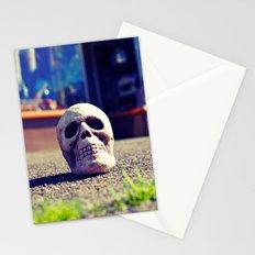 Sidewalk skull Stationery Cards