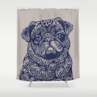 MANDALA OF PUG Shower Curtain