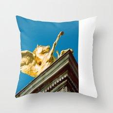 Gold Pegasus Throw Pillow