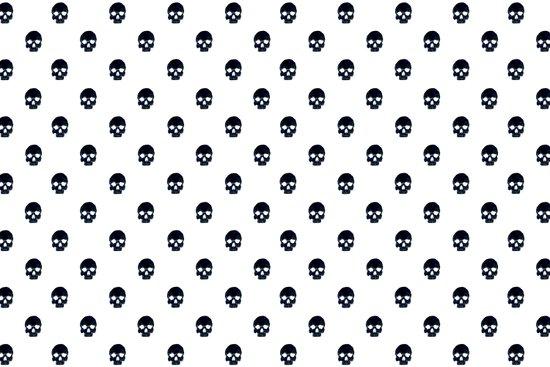 Black Skulls on White Art Print
