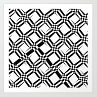 Art Print featuring Pattern Black And White … by Christine Baessler