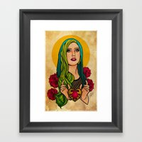 Lady Icon Framed Art Print