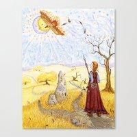 The Hawk Of Achill Canvas Print