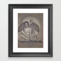Love`s  Wings Framed Art Print