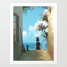 ghibli : Kiki Art Print