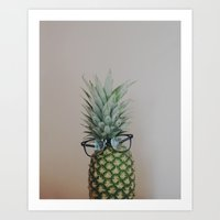 Mr Pineapple Art Print