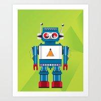 Robot SteveO Art Print