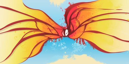Digital Butterfly Art Print