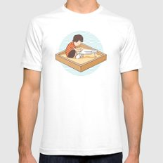 Brian's Sandbox Mens Fitted Tee White SMALL