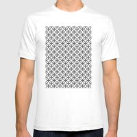 White Kawung Pattern Mens Fitted Tee White SMALL