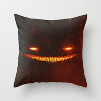 Smile (Red) Throw Pillow