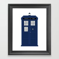 Doctor Who's Tardis Framed Art Print