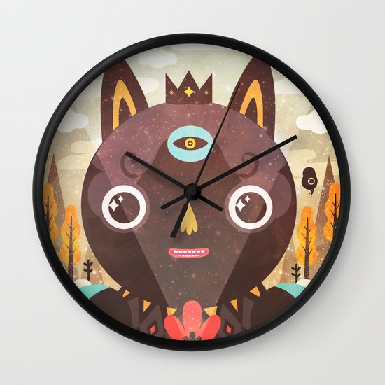 Over The Hill Wall Clock