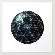 Art Print featuring Galaxy Geodesic  by Terry Fan