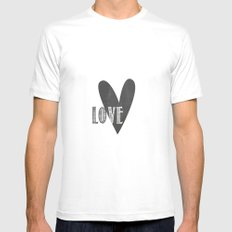 Home, Love, Illustration, Heart,  Mens Fitted Tee SMALL White