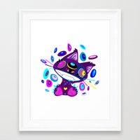 Psychocat Framed Art Print