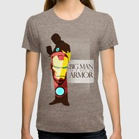 Suit Of Armor : Iron Man Womens Fitted Tee Tri-Coffee SMALL