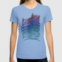 shark shirt Womens Fitted Tee Athletic Blue SMALL