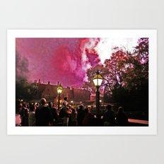 Firework Haze Art Print