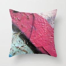 Pink Curve Throw Pillow