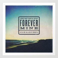 Joshua Radin - Sky (feat. Ingrid Michaelson) Art Print