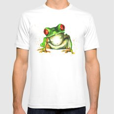 TreeFrog SMALL White Mens Fitted Tee