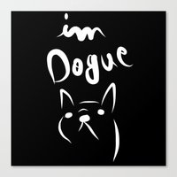 Dogue Black N White Canvas Print