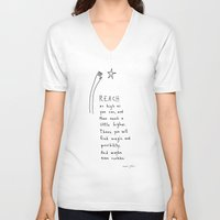 reach as high as you can Unisex V-Neck