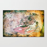 On My Way To The Moon. Canvas Print