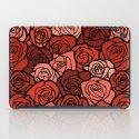 Romantic Orange roses with black outline iPad Case