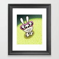 Rabbit 1/3 Framed Art Print