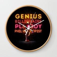Iron Man: Genius Billionaire Playboy Philanthropist Wall Clock