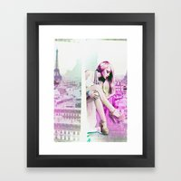 Paris in dreams Framed Art Print