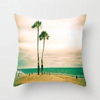 Lone Palms Throw Pillow