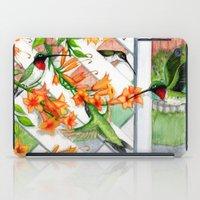 Hummingbirds and Trumpet Vines iPad Case