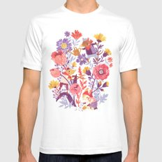 The Garden Crew Mens Fitted Tee White SMALL