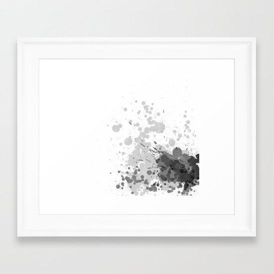 Passion Grey Framed Art Print