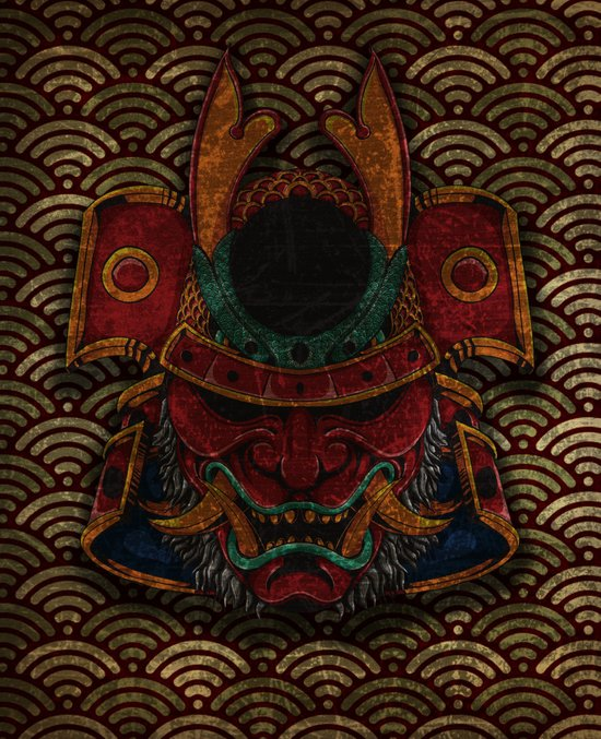 samurai mask Canvas Print