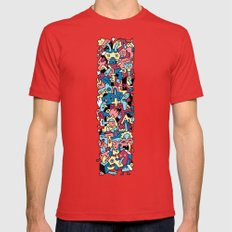 Blue, Blue Grass of Home Mens Fitted Tee Red SMALL