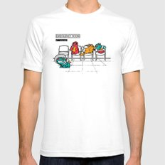 Emergency Room White SMALL Mens Fitted Tee