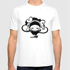 BEE-J T-SHIRT White SMALL Mens Fitted Tee