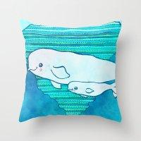 Belugas Throw Pillow