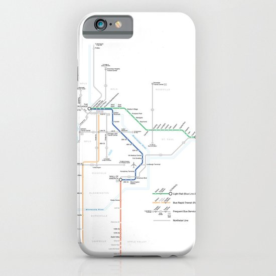 Twin Cities METRO System Map iPhone & iPod Case
