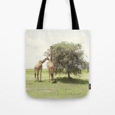 giraffes::rwanda Tote Bag