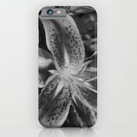 tiger lily in black and white iPhone 6 Slim Case