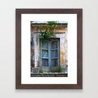 Abandoned Sicilian House in Noto Framed Art Print