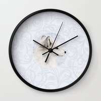 Polar Fox Profile Wall Clock