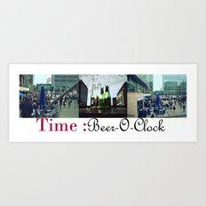 Beer-O-Clock : Art Print, Frames and Canvases Art Print